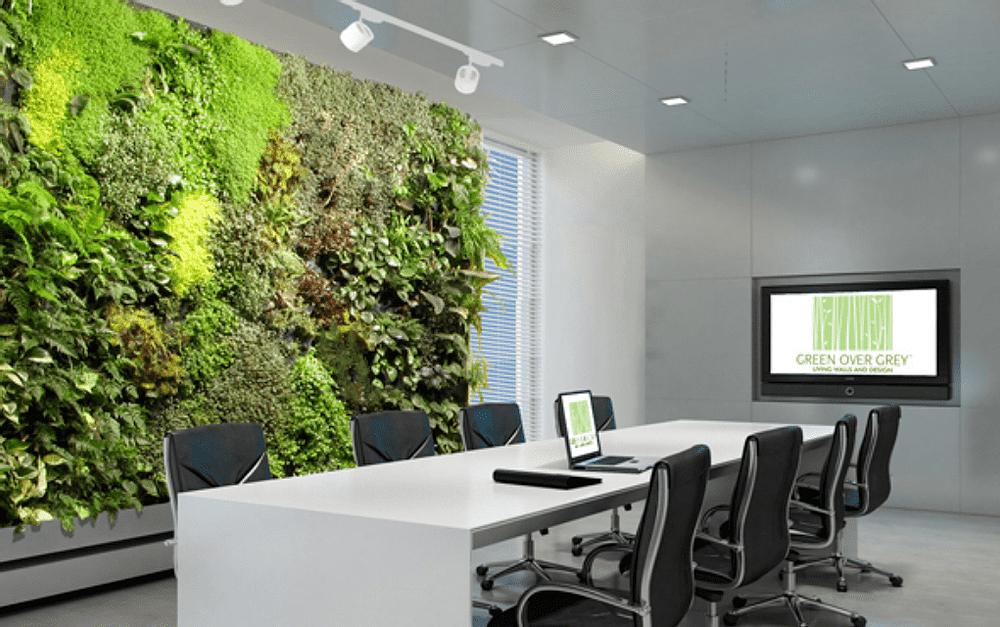 Vertical garden walls reduce indoor carbon dioxide