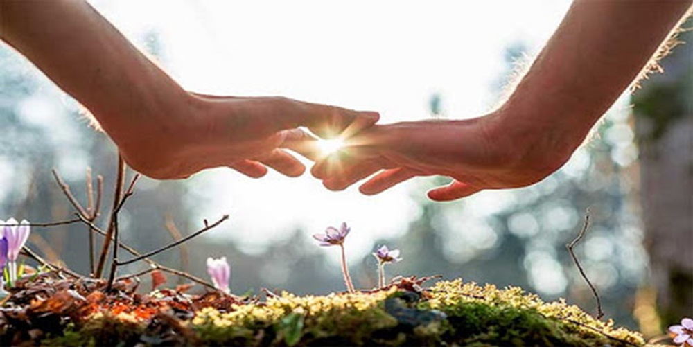 Feeling love, gratitude and a sense of connection with the universe can help recover from the shock of the current situation. Image Courtesy: immersionrecovery.com